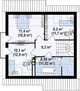 Дом «Комбо-120» + участок 7 соток