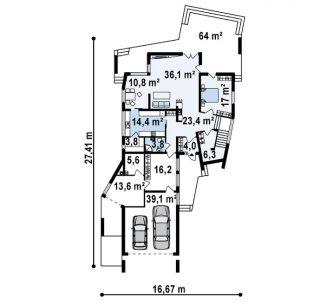 Дом-резиденция в стиле яхты