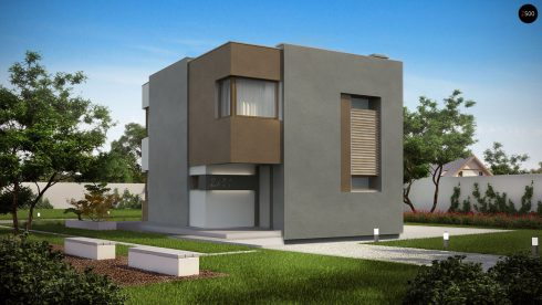 Дом в стиле кубизм.