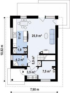 Компактный уютный дом 113 м2.